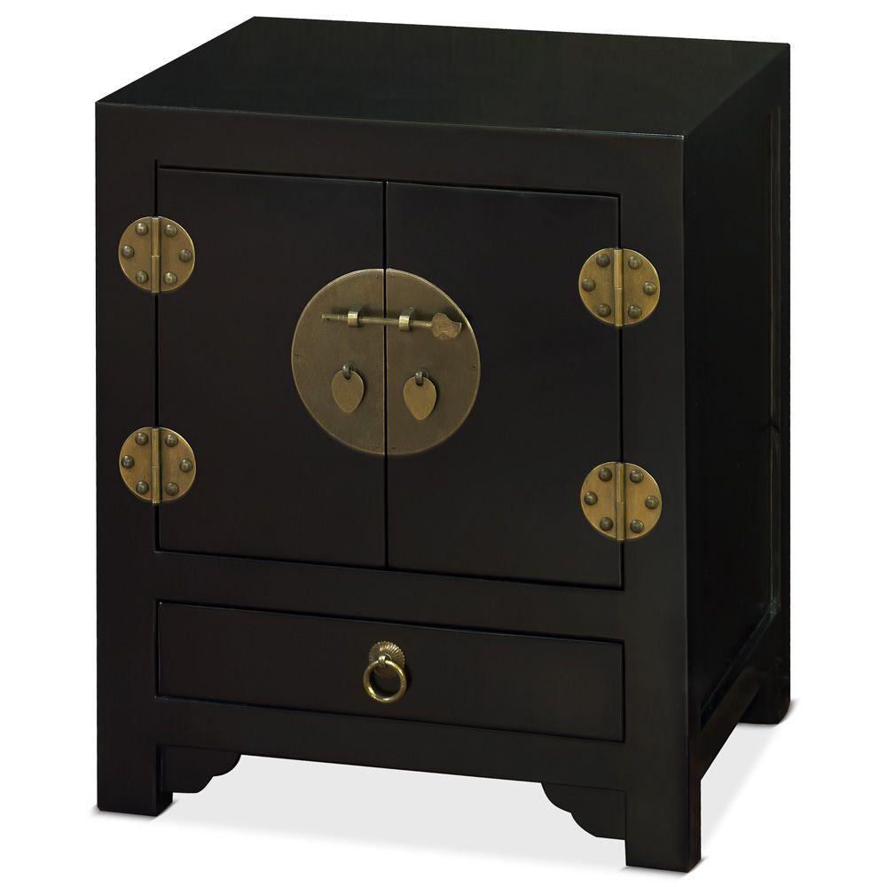 Elmwood Black Ming Cabinet Chinese Furniture Furniture