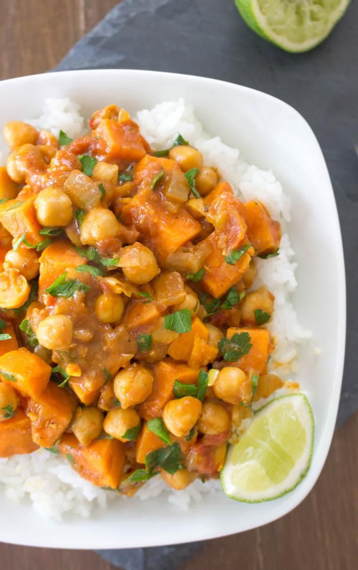 potato chickpea curry on Pinterest | Sweet potato curry, Chickpea stew ...