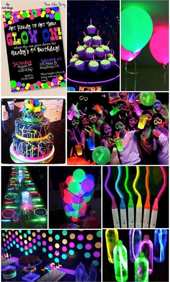 Throwing The Coolest Neon Party Ever Add Up Our Neon Plasticware Party Supplies Glow Birthday Party Birthday Party For Teens Neon Party