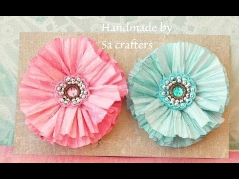Diy Easy To Make Twisted Paper Cord Flowers Tutorial By Sacrafters