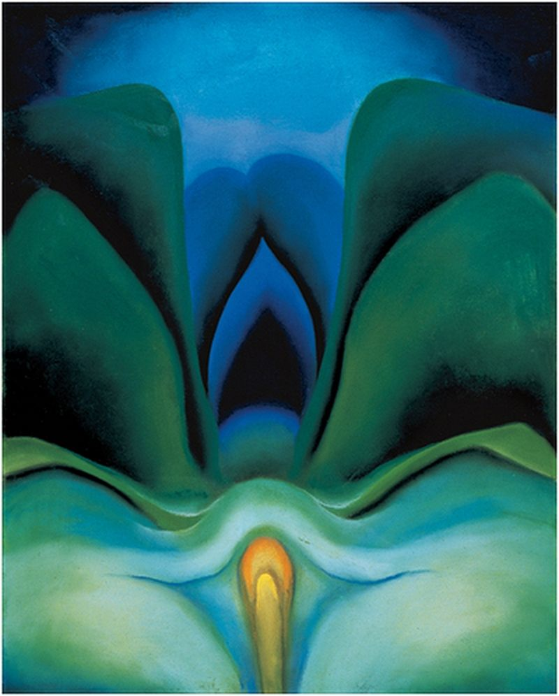 Georgia OKeeffe Blue Flower 1918 The Cool Color Scheme
