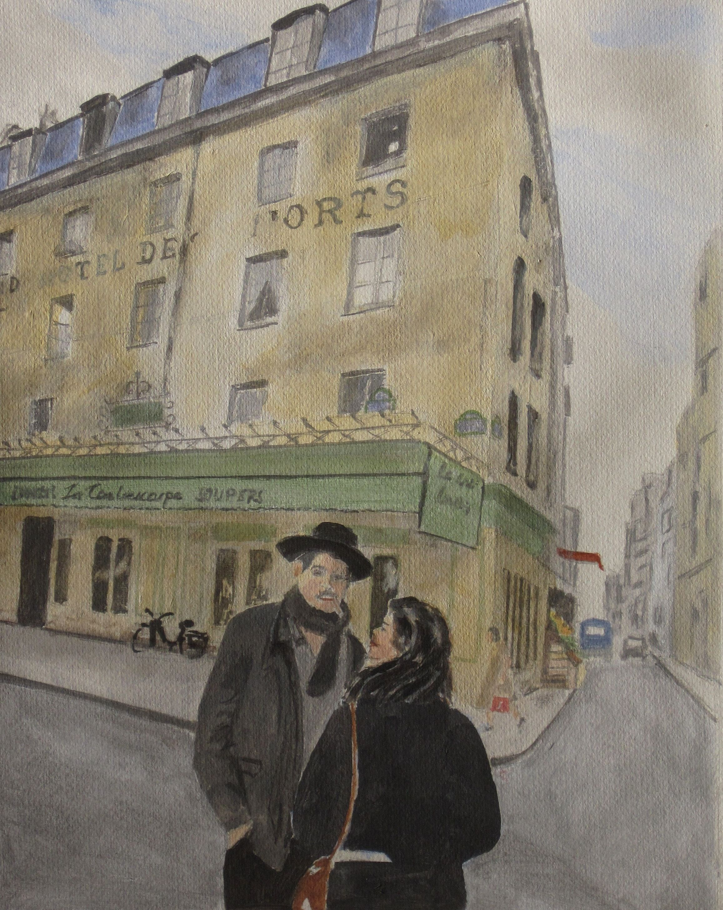 Cafe la contrescarpe paris acrylique eduard de vries for Advertising agency paris