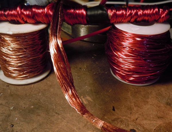 The self bonding enameled copper wire type 180 is a thermal class H ...