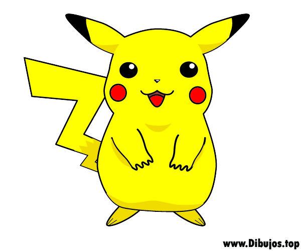 Dibujos De Pokemon A Color: Dibujo De Pikachu