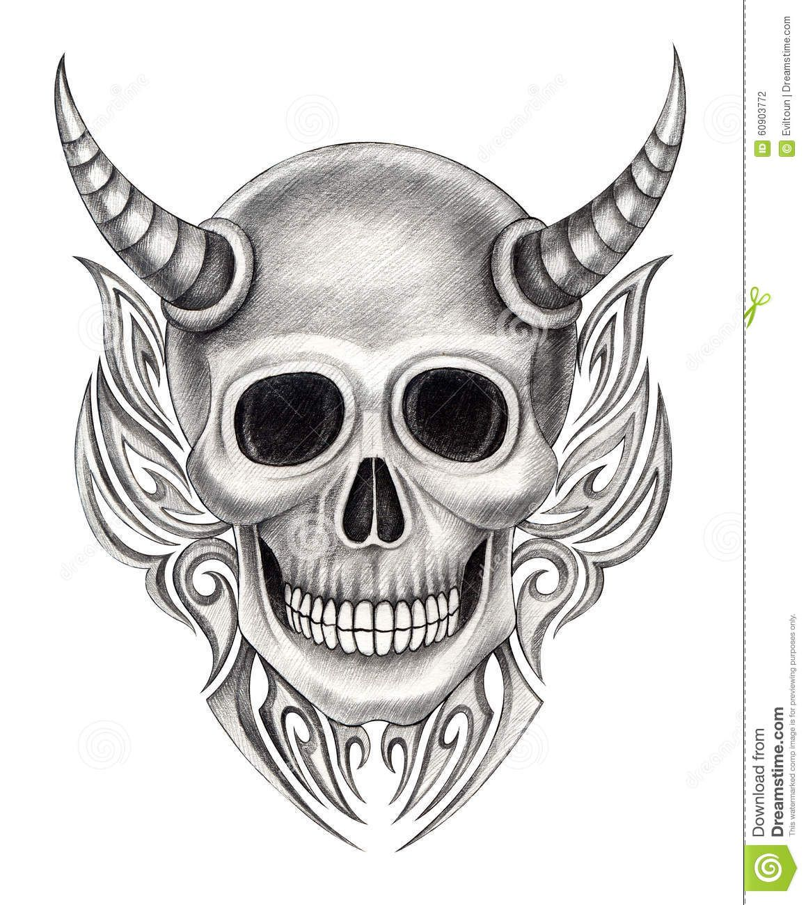 641 Free Hd I Flash Tattoo Design 2012: Art Design Skull Devil Mix Graphic Tribal Tattoo Hand