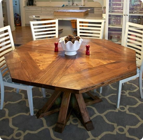 DIY Octagon Dining Table {Restoration Hardware Inspired}
