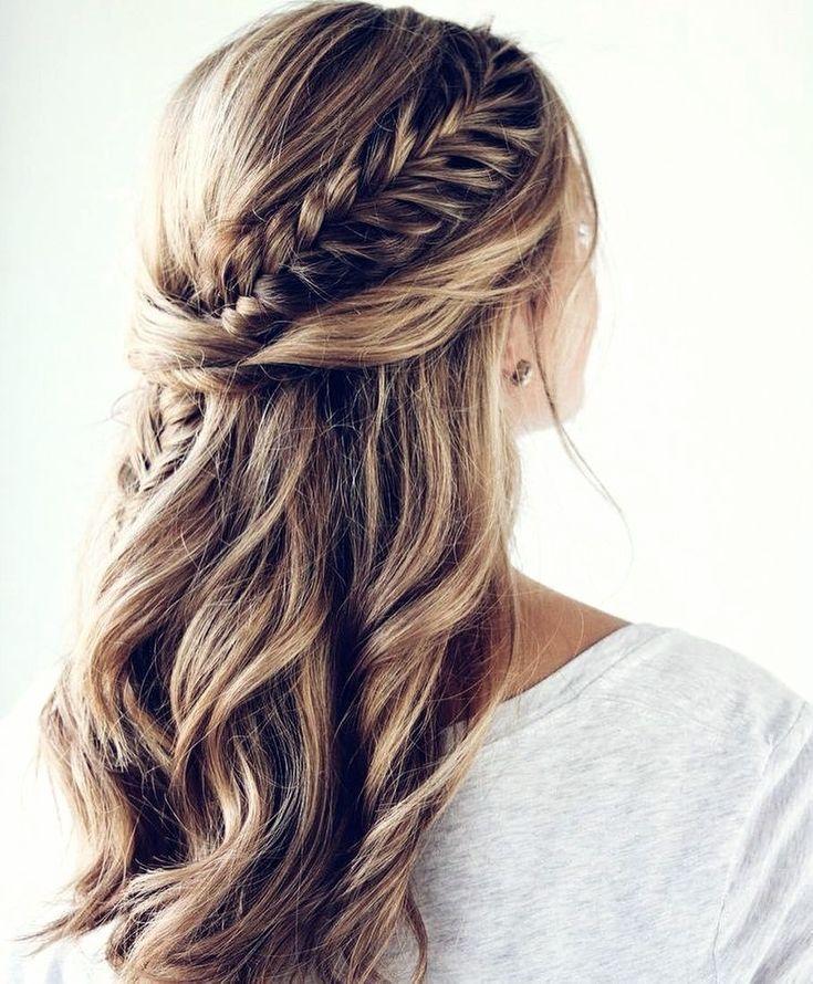 11 Ideen Von Fishtail Braid Hairstyles Thick Hair Styles Fishtail Hairstyles Open Hairstyles