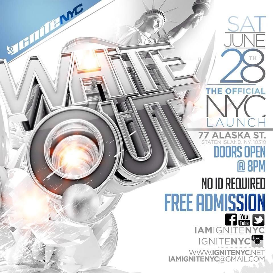 Ignite white out  NYC launch