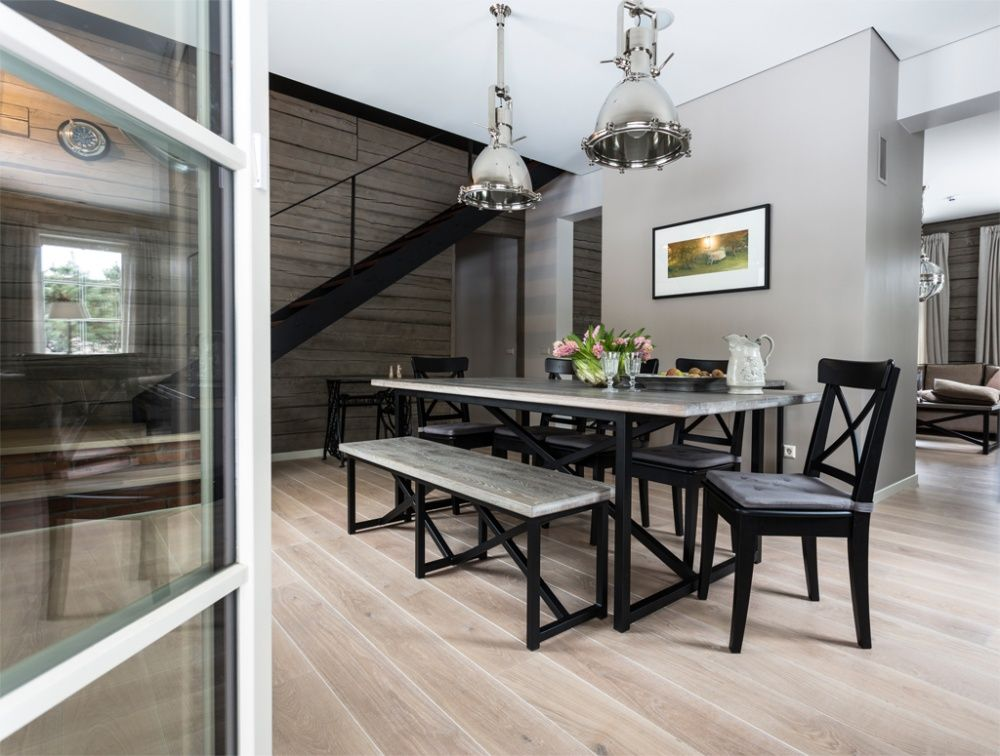 Dining room engineered 3layer oak flooring from