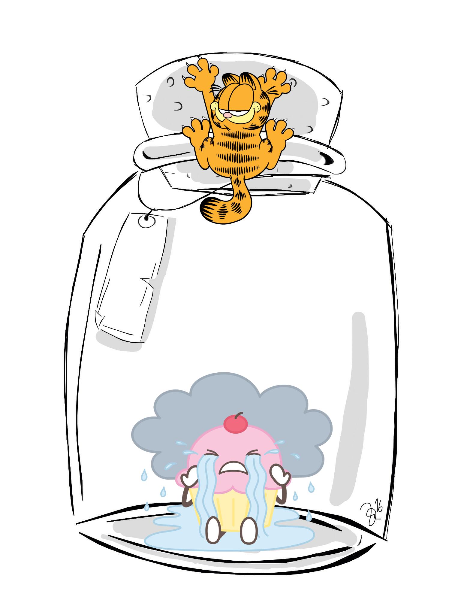 Garfield S Gonna Eat The Cupcake Freetoedit Garfield