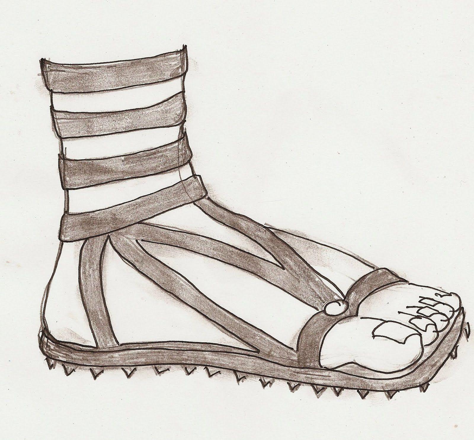 древнегреческие сандалии рисунок выехали