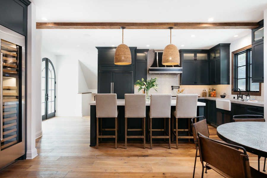 The Kitchen Of Renovated 1930s Spanish Style Home Keeps Its Original Aesthetic While Adding A Slew Modern Amenities