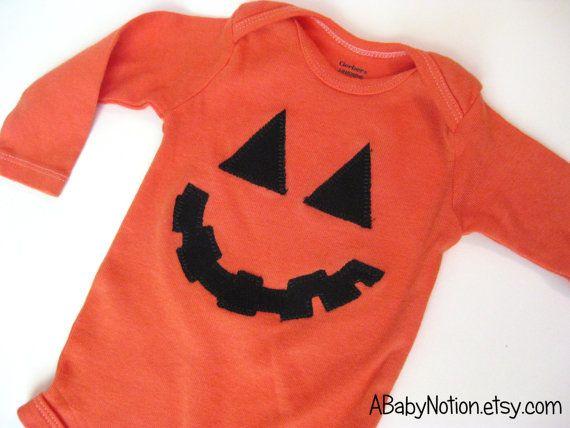 Pumpkin onesie for Halloween!