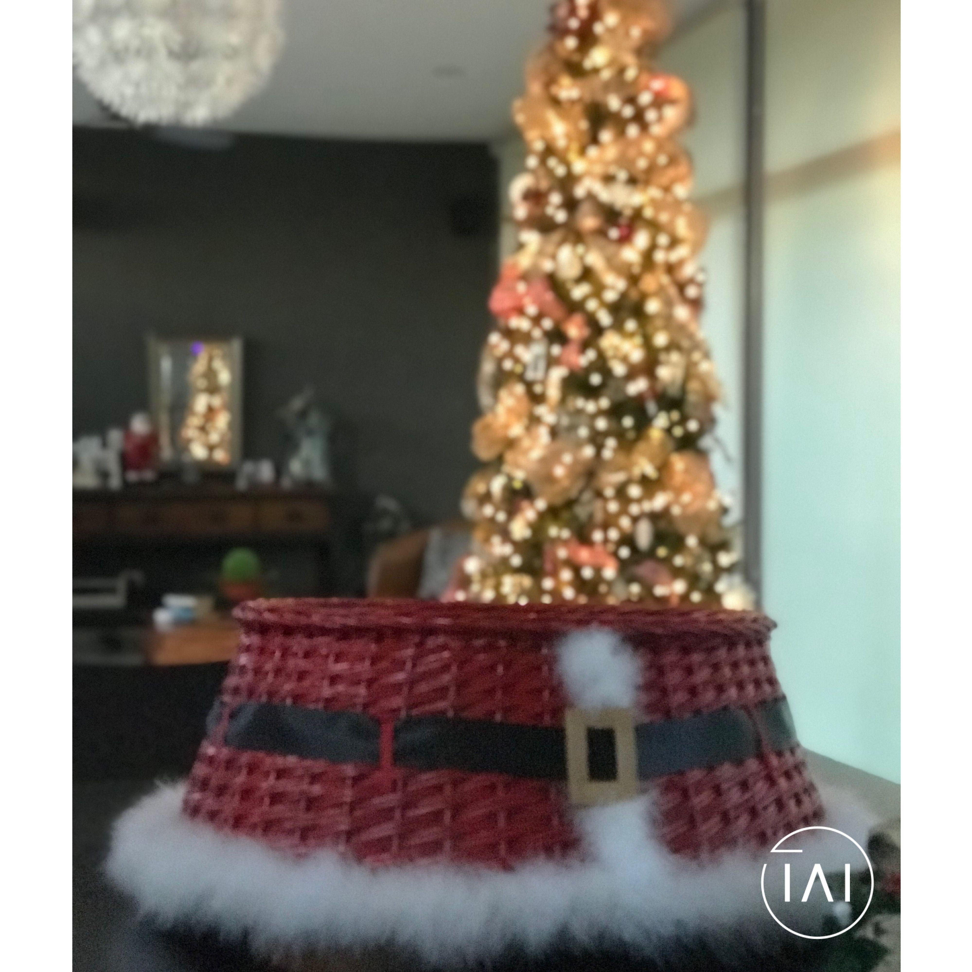 Cestas Para Pie De Arbol Santa Pie De Arbol Arbol De Navidad Cestas