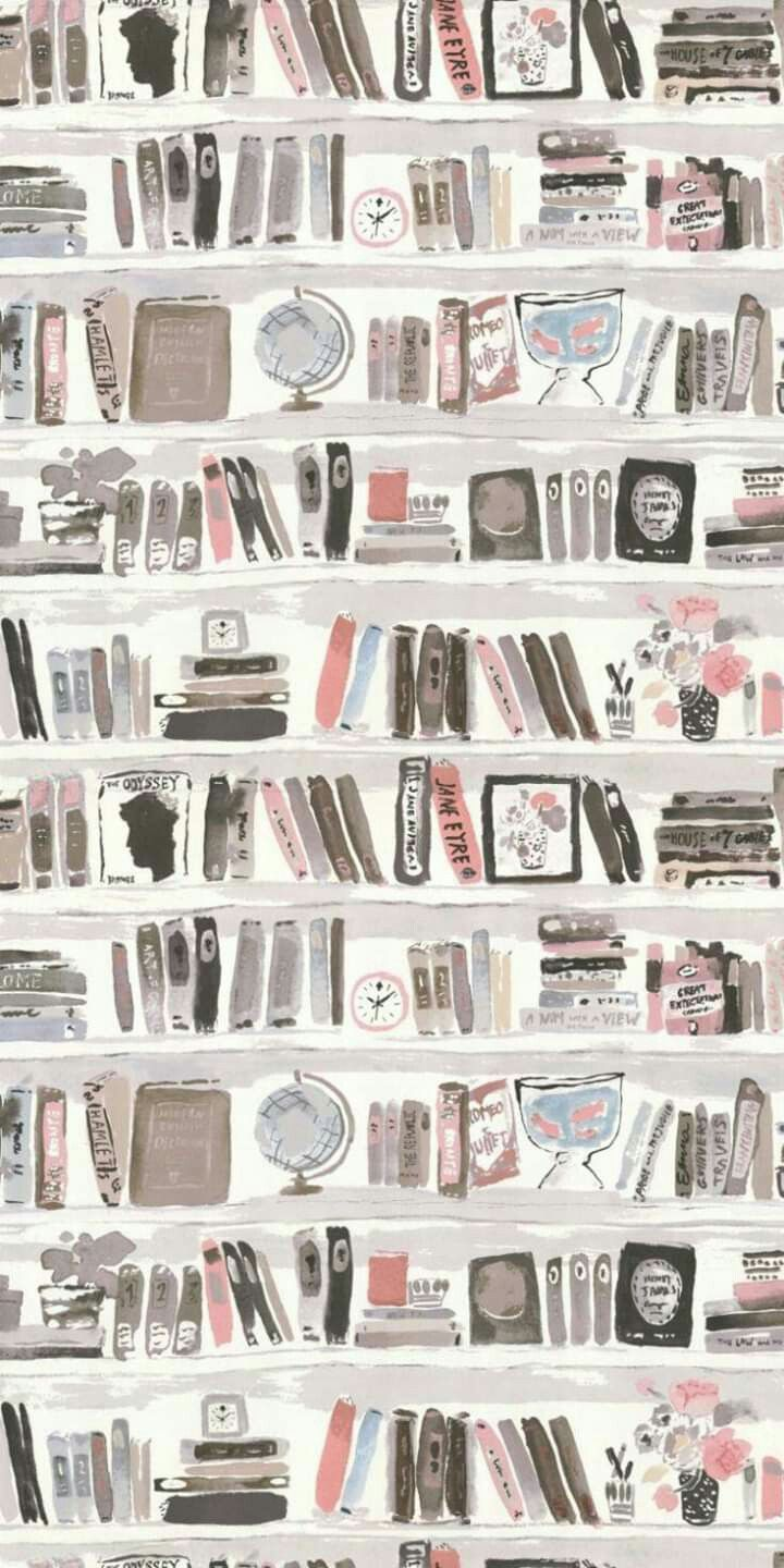 Phone library background! LOVE IT Blush wallpaper, Book
