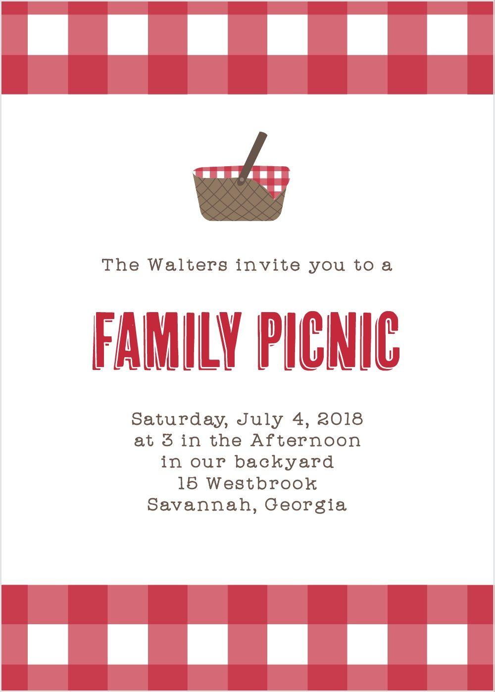Family Picnic Party Invitations | Family picnic | Pinterest | Family ...
