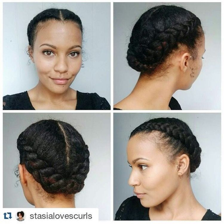 Nice And Simple Easy Braided Updo Natural Hair Styles Hair Styles
