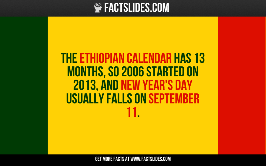The Ethiopian calendar has 13 months, so 2006 started on