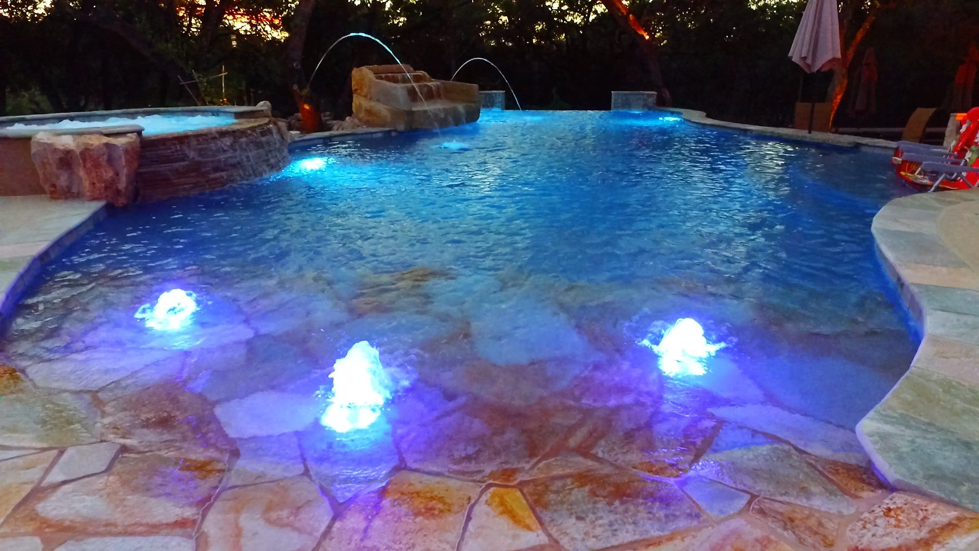 Are you looking to fix your #Pool #Lights or looking for new #Poollight ideas? Contact Trinity Today!