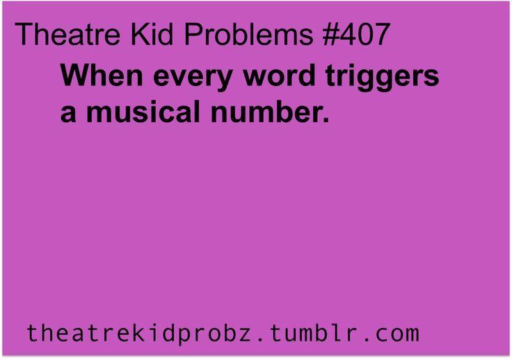 Theatre Kid Problems | it's my life | Theatre problems