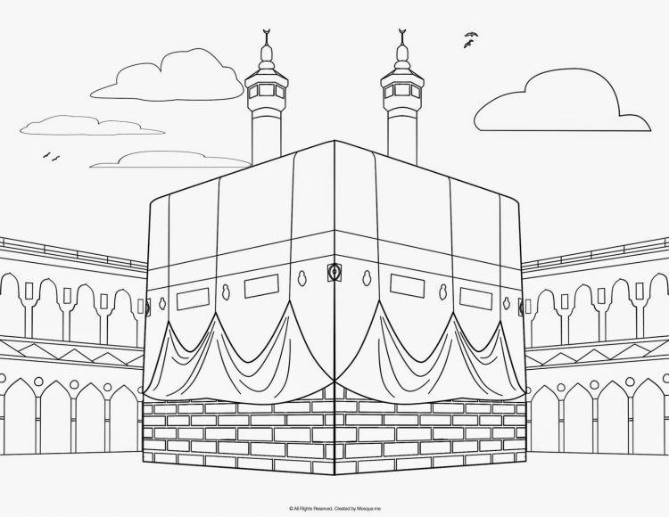 Gambar Mewarnai Seni Islamis Warna Gambar