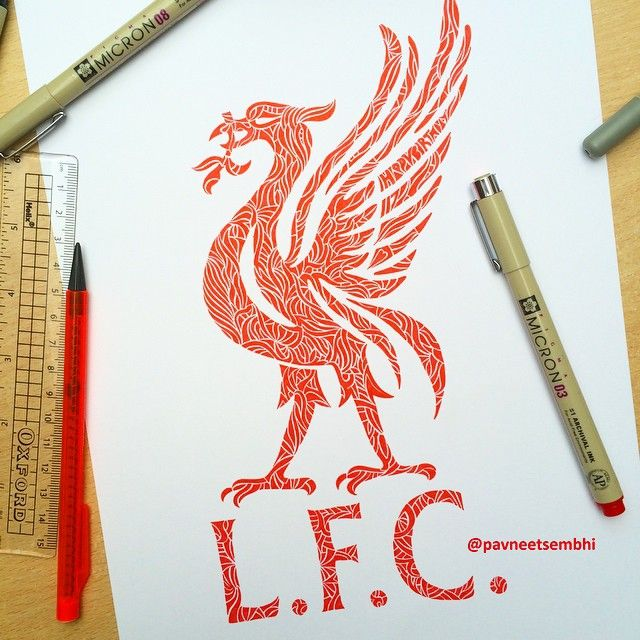 Liver Bird Drawing For My Friend #happybirthday #lfc