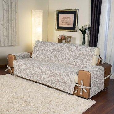 By suardi copridivano astrid con lavorazione jacquard e - Copridivano per divani reclinabili ...
