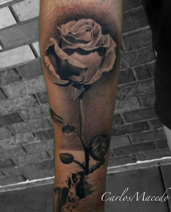 a6ef4913a Concrete rose | Ink'd 2 | Rose tattoo forearm, Yellow rose tattoos ...