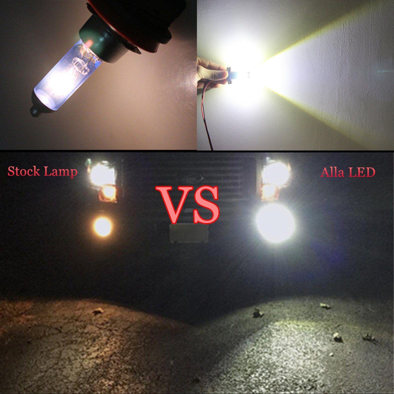 Alla Lighting 2504 Psx24w Led Fog Light Bulbs Super Bright Psx24w Led Bulb High Power 50w 12v Led Psx24w Bulb For 12276 250 Led Fog Lights Led Bulb Light Bulbs