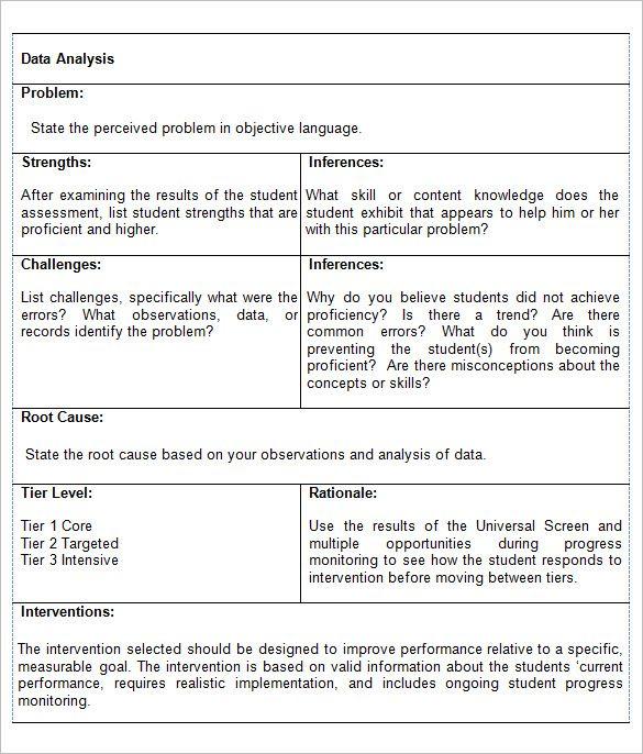 Data Analysis Report Templates   Free Pdf Word Documents