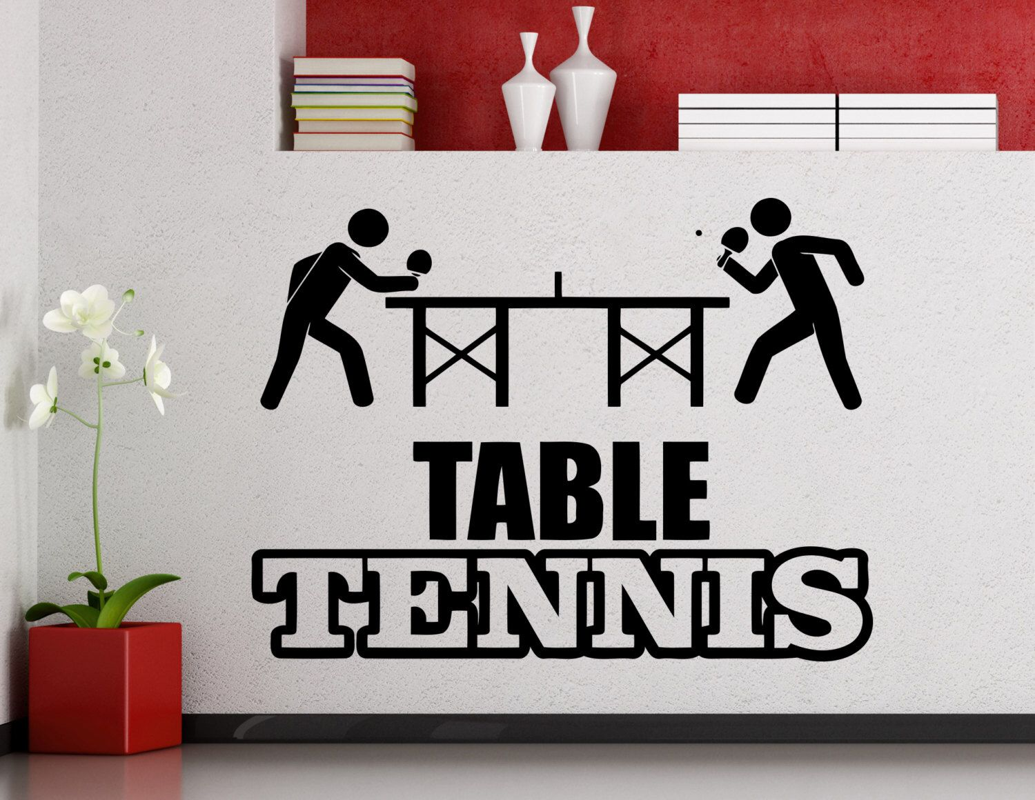 table tennis logo wall sticker sports ping pong vinyl decal home wall decal tabble tennis sports ping pong vinyl sticker home interior decoration waterproof high quality mural art mural