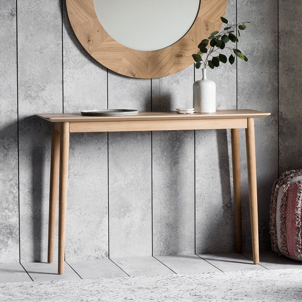 Milano Oak Scandi Console Table Homelia