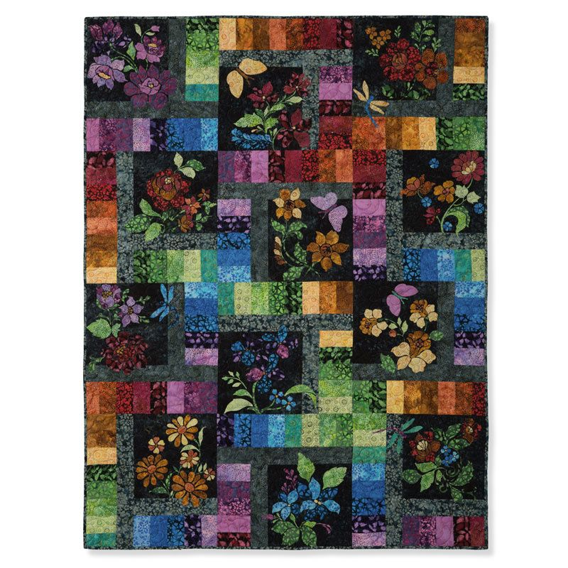 Enchanted Garden Block Of The Month Applique Quilt Patterns