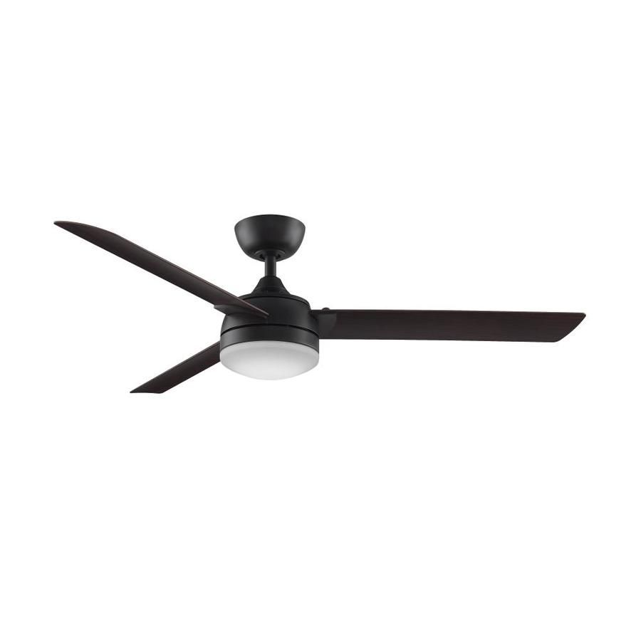 Fanimation Xeno 56 In Dark Bronze Downrod Mount Indoor Outdoor Ceiling Fan With Led