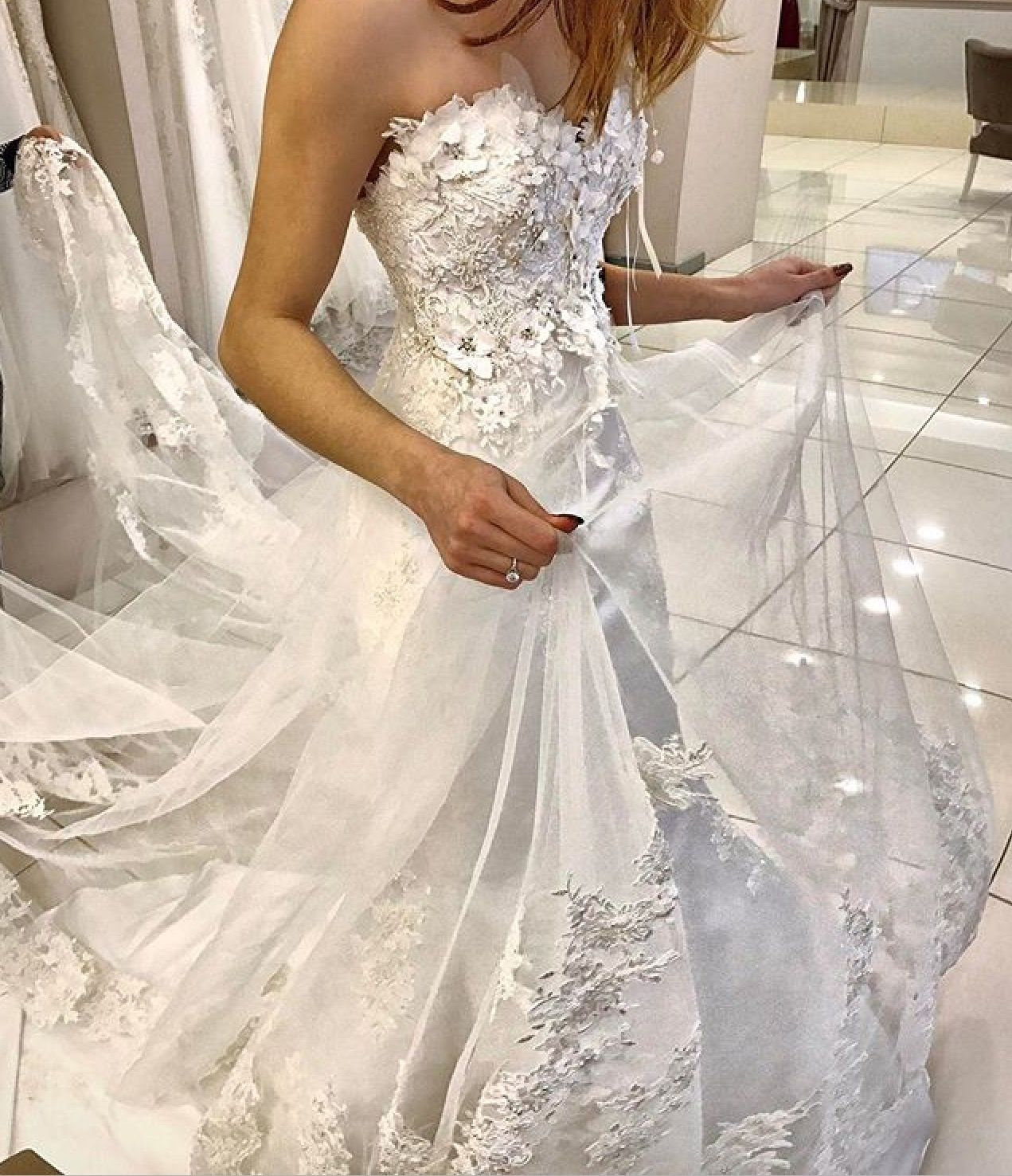 0212caac73df0 Üç boyutlu gelinlik, çiçekli gelinlik, 2017 gelinlik modelleri, Wedding  dresses, flower Wedding