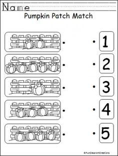practice numbers and counting 1 5 with this free pumpkin worksheet good fall and harvest. Black Bedroom Furniture Sets. Home Design Ideas