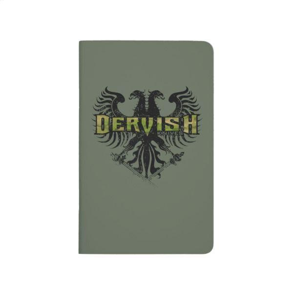 Dervish Knives Field Sketch Notebook Crest Logo Custom Office Supplies Business Branding