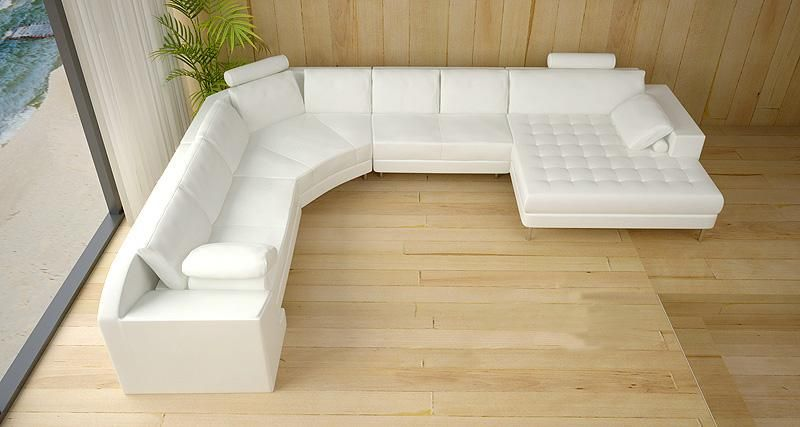 Tosh Furniture Modern White Leather Sectional Sofa : tosh furniture leather sectional sofa - Sectionals, Sofas & Couches