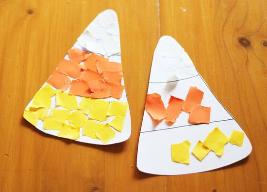 13 Easy Halloween Crafts for Toddlers Candy corn, Collage and Craft - halloween decorations for kids to make