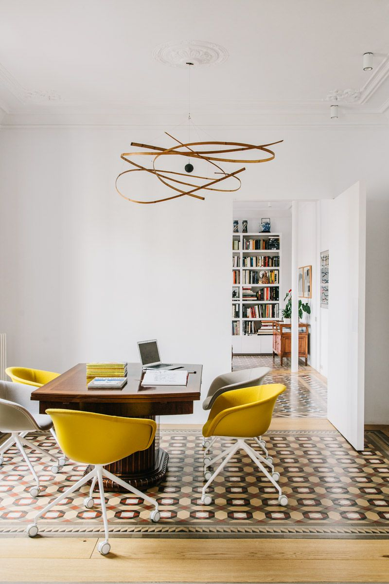 Home Office With Duna Chairs By Lievore Altherr Molina For