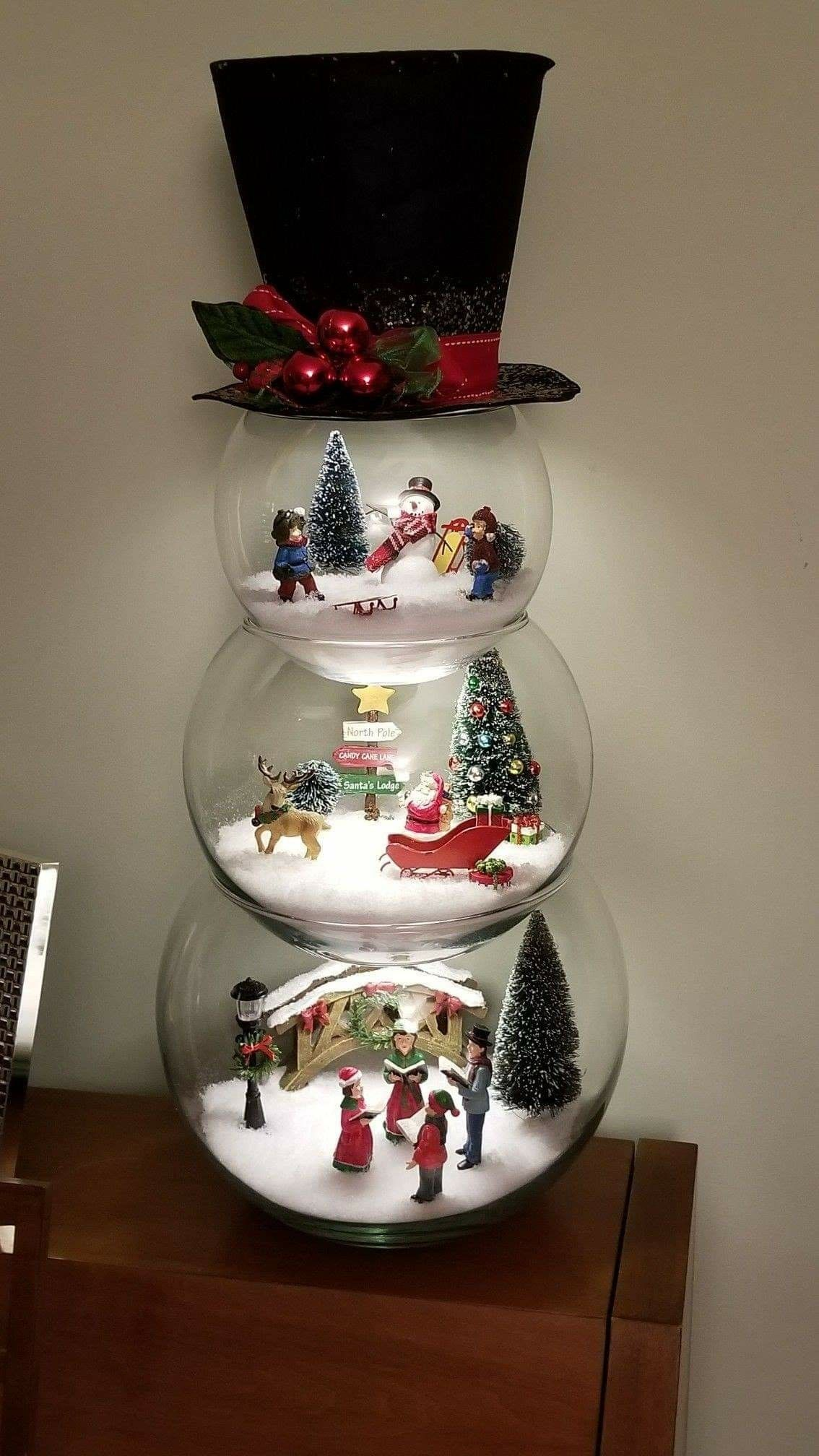 Three Tier Snowman Table Decoration