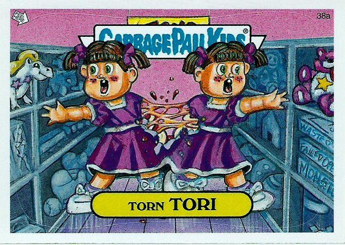 Torn Tori Garbage Pail Kids Garbage Pail Kids Cards Kids Stickers