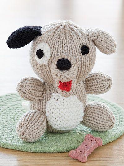 Knitting - Happy Dog - #EK00687   Knitted dolls, Knitting ...