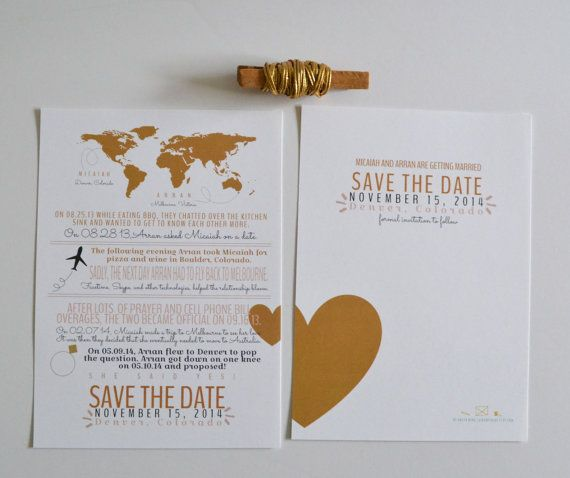 Love Story Save-the-Date How We Met Save The Date By