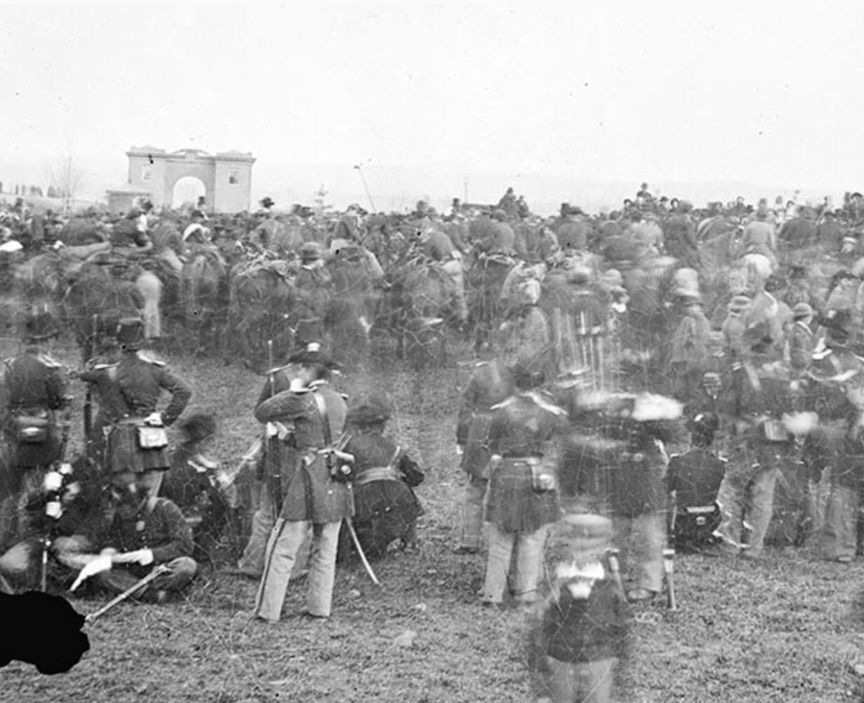 The Crowd Watching Lincoln At The Gettysburg Dedication On