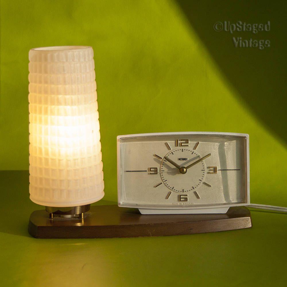 Vintage Retro 1960s METAMEC Bedside Nightstand Clock with