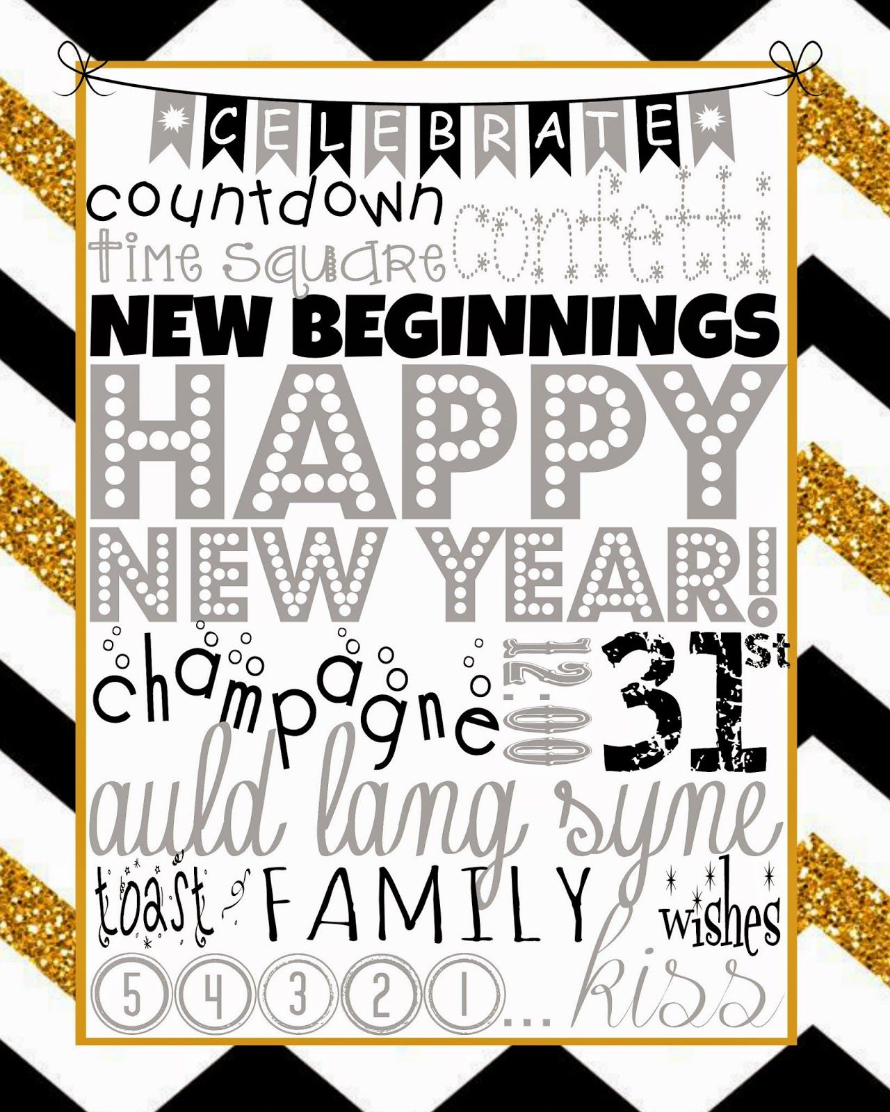 new years eve subway art printable free