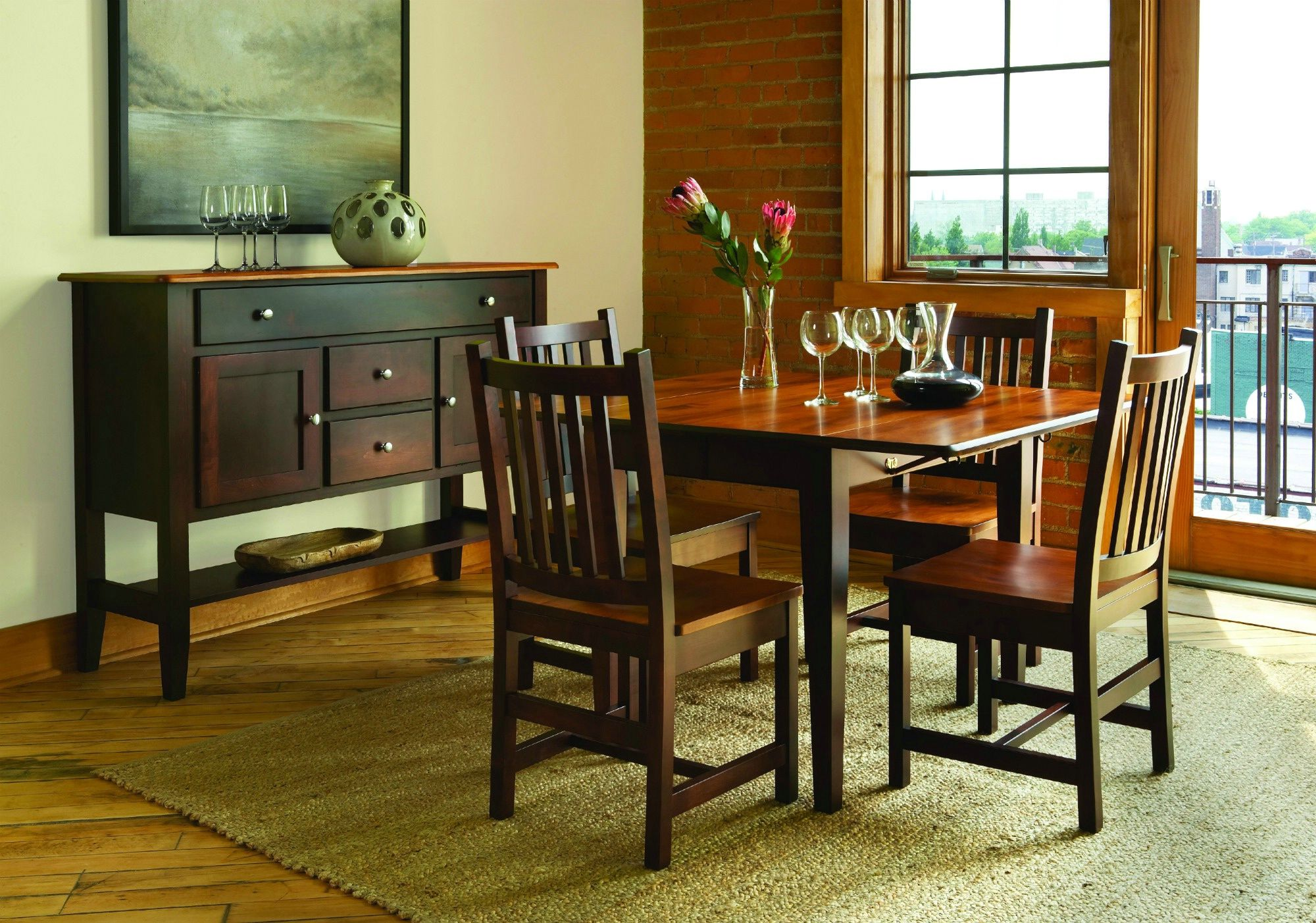 Amish Dining- Saber Collection Table Set | Classic Oak ...