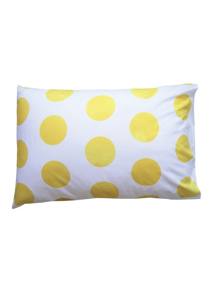 Polka Dot Pillowcases Fair Image Of Yellow Polka Dot Pillowcase  Sleeping Etc  Pinterest Decorating Inspiration