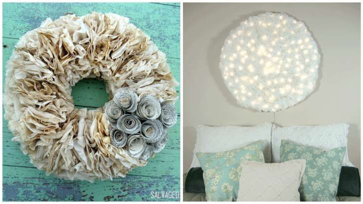 15 great coffee filter crafts with
